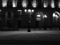 In a snowy night b/n (darko82) Tags: blackandwhite italy snow storm night landscape torino italia bn piemonte luci turin notte paesaggio biancoenero notturno piazzacastello nocturn palazzodellaregione paesaggionottturno