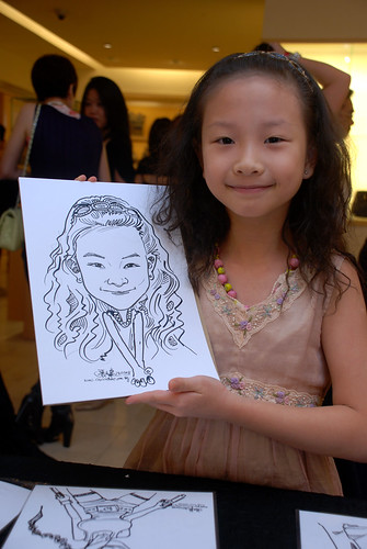Caricature live sketching for Bulgari Christmas Brunch - 7