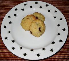 Coconut-Cranberry cookies