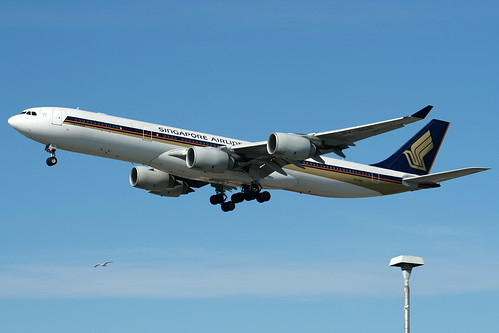 9V-SGD - Singapore Airbus A340-500 by AndrewC75, on Flickr