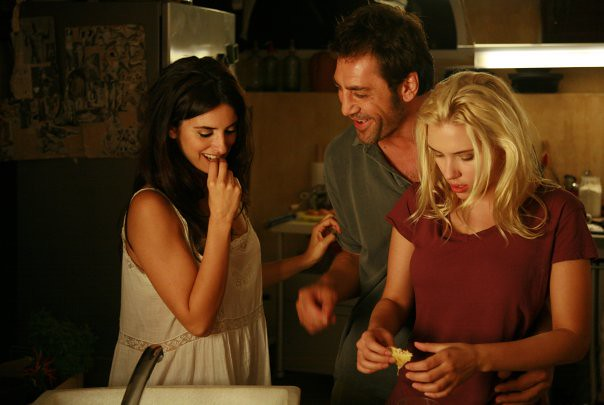 Penelope Cruz as Maria Elena, Javier Bardem as Jose Antonio and Scarlett Johansson as Christina in Woody Allen's Vicky Cristina Barcelona by Rumania mi pais