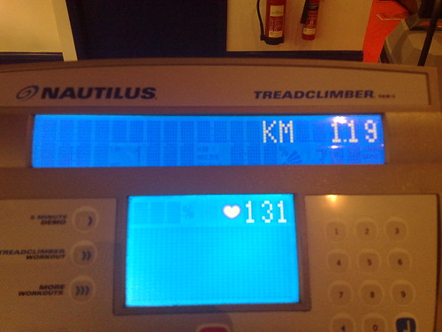 #gym 2-1-09 Treadclimber Distance