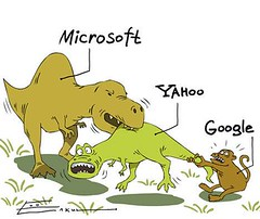 Microsoft Yahoo Google dinosaurs
