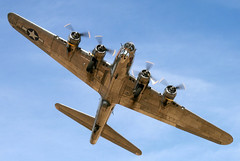 "Boeing B-17G Flying Fortress, s/n 44-83514, ""Sentimental Journey,"" Arizona Wing of the Commemorative Air Force (Joe_Copalman) Tags: arizona aviation wwii b17 worldwarii boeing bomber propeller warbirds flyingfortress militaryaviation sentimentaljourney militaryaircraft falconfield b17g mesaarizona boeingb17 commemorativeairforce"