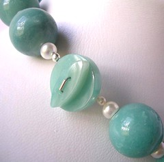 Large amazonite rounds and clasp