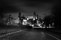 Kelvingrove Museum B+W (gerryquiff) Tags: lighting old city sky colour art home museum lights scotland clyde mural display antique glasgow centre transport scottish georgesquare science corporation collection trust colourful robertburns lomond railings kelvingrove strathclyde burrell citychambers glasgowtransportmuseum finneston intage