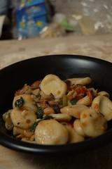 Dinner: home-made orecchiette