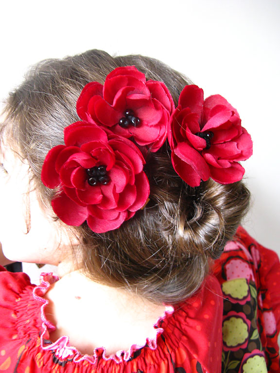 dress flowers hair
