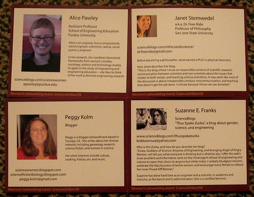 Women Science Bloggers trading cards
