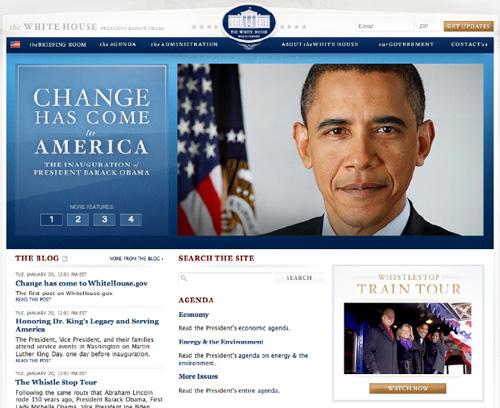 Barack Obama Sitio Web Website Blog Casa Blanca