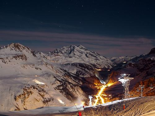 Firemoon (ski au clair de lune)