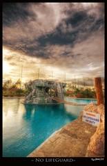 No Lifeguard (Jaydee Pan (Stopped for a while)) Tags: bridge nature pool swimming swim photoshop canon landscape rocks sigma lifeguard daytime mapping 1020 tone hdr lightroom photomatix 400d jdeepan