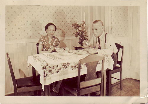 Chan Kai Nang and Chan Man Yick, in their Vancouver dining room