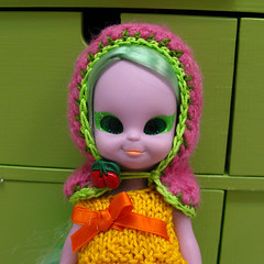 Yay or nay? (Helena / Funny Bunny) Tags: hoodie doll knit cape 1972 embla olds unsure emeraldwitch fbfashion