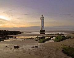 Perch Rock Lighthouse (Steve Wilson - classic view please) Tags: new uk sunset sea england lighthouse west building water pool rock liverpool river geotagged seaside sand nikon scenery brighton northwest north scenic norman perch d200 geotag mersey listed wallasey wirral newbrighton listedbuilding kingham rivermersey nikond200 perchrock perchrocklighthouse normankingham