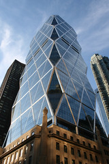 Hearst Tower ([DEADCITIES]) Tags: new york city blue sky newyork glass america skyscraper diamonds reflections cool steel headquarters william normanfoster hearst shining skyblue glazing randolph contemporaryarchitecture hearsttower hearstbuilding hearstcorporation glasssteel nearcolumbuscircle 300west57thstreet josephurban 9598thavenue caststonefacade deadcitiesnet