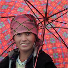 Hmong woman Vu (NaPix -- (Time out)) Tags: portrait woman black beautiful umbrella asia mother vietnam explore sapa hmong explored napix