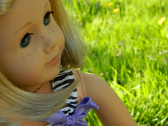 Spring is here (AmericanGirl508) Tags: macro girl grass yard outside doll bokeh american kit kittredge