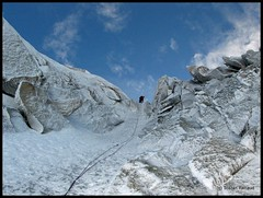 Icy climb in winter (__Tristan__) Tags: winter mountain snow france ice climbing goulotte massifdumontblanc chr