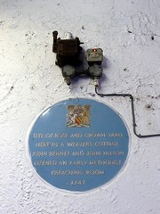 Photo of John Bennet and John Nelson blue plaque