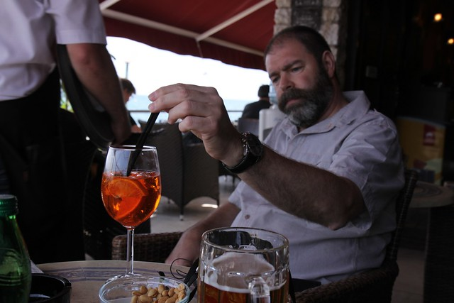 Piran - Contemplating and Aperol