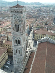 View of campanile from top of dome
