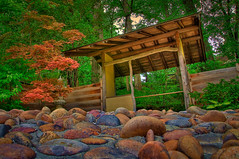 Rocky Beachshore (rseidel3) Tags: wood trees beach nature colors garden illinois rocks shore hdr rockford japenese realmagic
