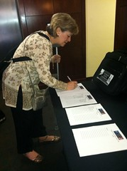 Debra Wilcox signs up for a Capitol tour