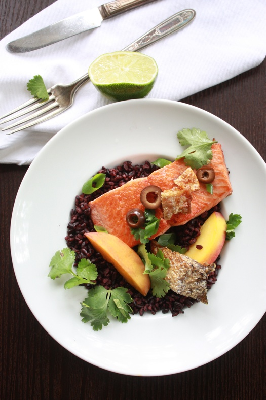 Salmon and Black Rice