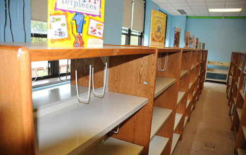empty library at Young school