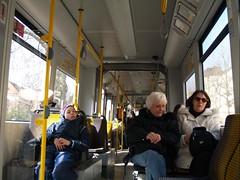 inside a DVB tram