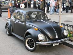 Murdered Out Beetle (miahz) Tags: city black car washingtondc capital matte vwbeetle paintjob nationalcherryblossomfestival murderedout