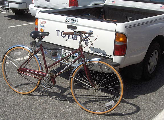 bike bicycle wheel truck toyota forever tacoma murray greenway 3speed 5speed