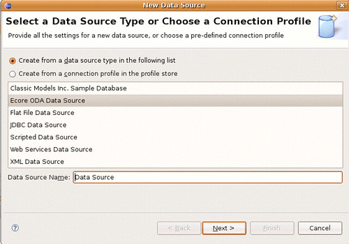 Select a new Ecore Data Source.