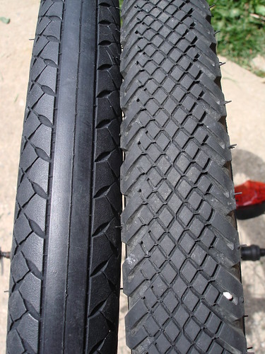 Old and New Tires