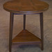 Lightly Distressed Walnut Occasional Table with Parquet Top