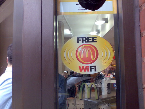 mcdonalds wifi uk how to connect
