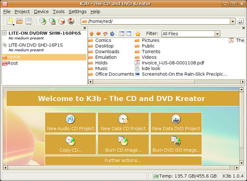 Screenshot-K3b - The CD and DVD Kreator