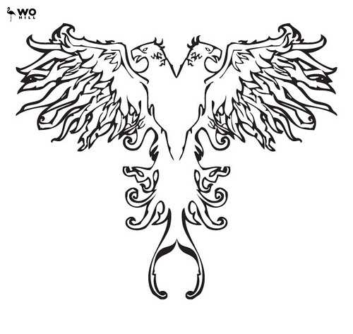 eagles tattoos. Double-headed eagle tattoo by