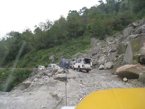 Rolling past another landslide