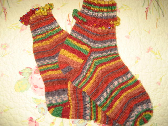 Ravelry Socks Knit On A Small Circular Needle Pattern By Debbie Haymark