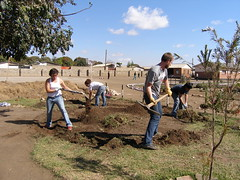 USF students breaking ground (Lubuto Library Partners) Tags: lubutolibraryproject zambia lubuto library libraries africa books ovc literacy aids hivaids orphans children youth education reading streetchildren streetkid fountainofhope lusaka construction vernacular architecture buildings urbandevelopment indigenousdesign youthparticipation communityparticipation lubutolibraries lubutolibrarypartners publiclibraries ovcy
