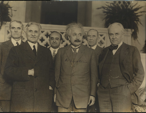 Portrait of Albert Einstein and Others (1879-1955), Physicist, by unidentified photographer, 1931, S