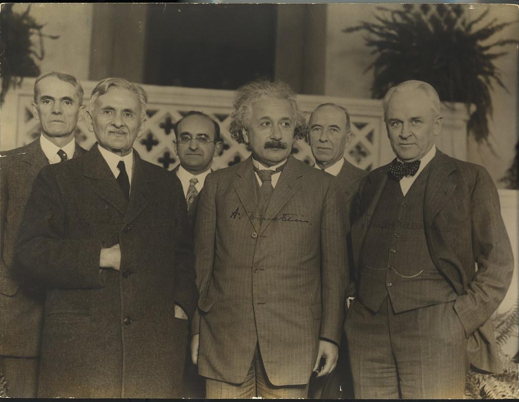 Portrait of Albert Einstein and Others (1879-1...