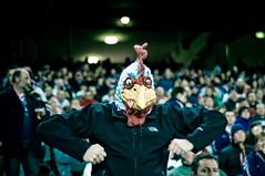 someone got a bit too excited. (matt_robinson) Tags: chicken sport delete10 delete9 delete5 delete2 football nikon mask head delete6 delete7 delete8 delete3 delete delete4 save save2 mascot rooster roosters d300 rugbyleague nrl dmu wwwmattrobinsonimagescom