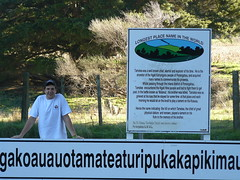 Longest Place name in the World 006 (Just Rye Oh) Tags: newzealand hawkesbay taumatawhakatangihangakoauauotamateaturipukakapikimaungahoronukupokaiwhenuakitanatahu longestplacenameintheworld