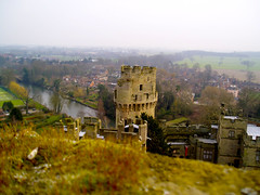Warwick Castle - Caesar's tower from Guy's tower (timinbrisneyland) Tags: