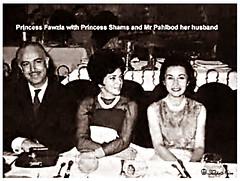 Princess Fawzia Of Egypt with Princess Shams Of Iran & Her Hasbund (Tulipe Noire) Tags: iran princess egypt middleeast persia 1940s egyptian empress tehran reza mohamed shah shahnaz pahlavi fawzia