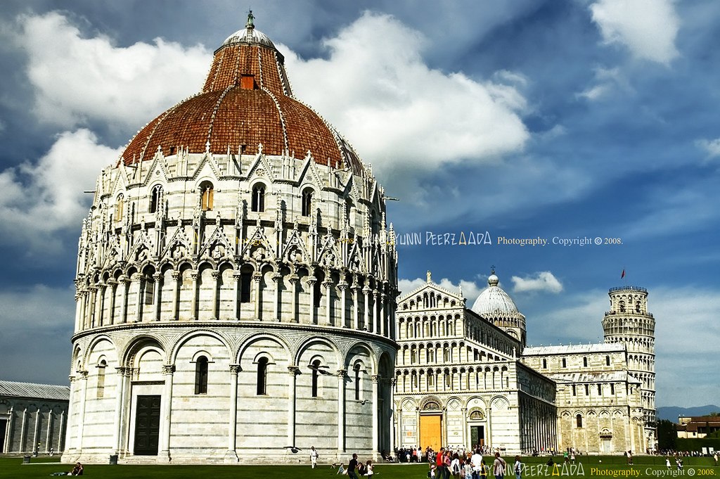 Piazza del Duomo (Cathedral Square) & The Leaning Tower, Pisa, Tuscany, Italy - Rome