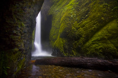Summer in the Oneonta Gorge (Ar'alani) Tags: longexposure nature landscape flow waterfall moss log rocks lower heavy columbiarivergorge canon1022mm oneontagorge oneontafalls hoyamoose